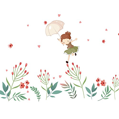 Kids Room Decor Flower Fairy Decals For Wall Stickers Remova