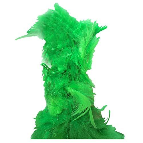 Feather Boas, Fluffy Party Dressup Wedding Party Scarf Costume Accessories Scarf (Green -2, Free - Pattern Scarf Lace Free