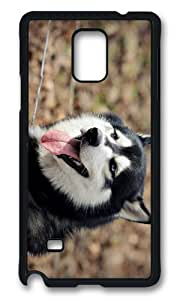 MOKSHOP Adorable Husky Dog Hard Case Protective Shell Cell Phone Cover For Samsung Galaxy Note 4 - PCB by Maris's Diary