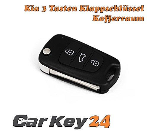 KIA 3 Tasten Klappschlü ssel mit Rohling NE66 für KIA passend Carkey24