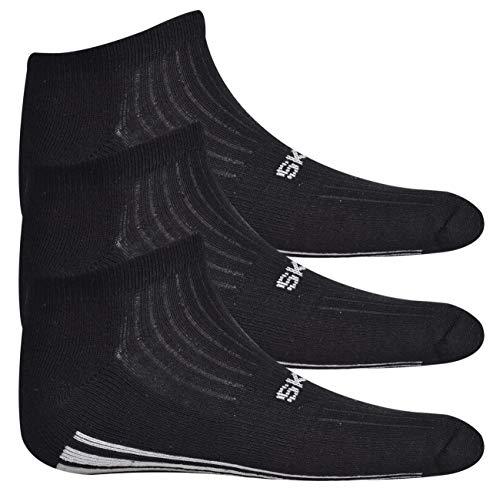 Skechers Para 40 Hombre 46 Zapatillas Negro De Algodón PR8Prq