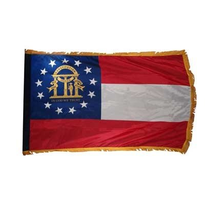 Nylon Georgia Indoor Flag - 4ft x 6ft Georgia Flag Nylon Indoor - FG-SGA46N-INDOOR