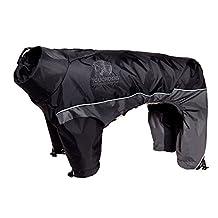 Touchdog Quantum-Ice Full-Bodied Adjustable and 3M Reflective Pet Dog Jacket Coat with Blackshark Technology, Black, Grey, Medium