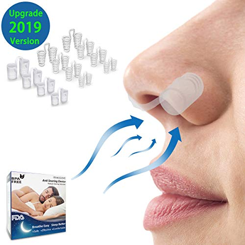 Snoring Solution, Anti Snoring Devices, 12 Set snore stopper, Healbody Advanced Nose Vents to Ease Breathing for Natural and Comfortable Sleep, Instant, Fast and Safe Snore Relief