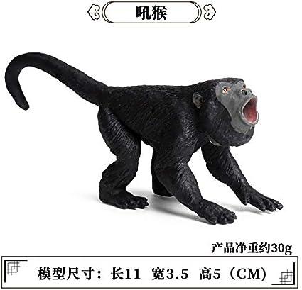 0.03kg S/ólido est/ático para ni/ños Modelo de Animal Salvaje Juguete de pl/ástico Mono Gorila Mono Decoraci/ón Mono de Mano
