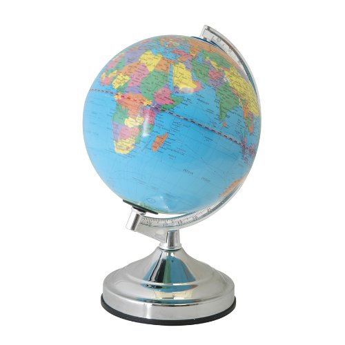 World Globe 15W Touch Lamp in Polished Chrome Lloytron L7201CH