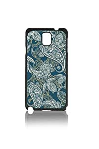 Beautiful Blue Paisley Custom Hard Plastic back Phones Case for Samsung Galaxy Note3 n900 - Galaxy Note 3 Case Cover