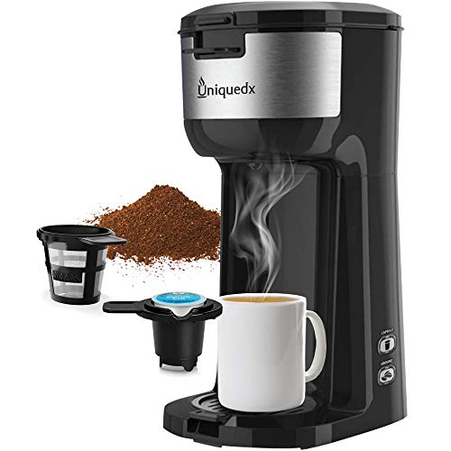 Single Serve Coffee Maker, Dual for KCup Pod & Ground Coffee Brewer, Instant Coffee Machine with Brew Strenght Control…