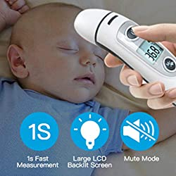 Thermometer for Fever Ear and Forehead, Thermometer for Baby, Kid and Adult?Multifunction Digital Medical Infrared Thermometer