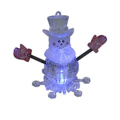 CRAFTM LED Mini USB Powered Color Changing Decorative Snowman Light for Merry Christmas Holiday Time Decor-(Color Changing)