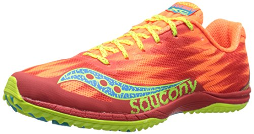 Saucony Womens Kilkenny XC5 Flat Racing Shoe Vizi Orange/Citron