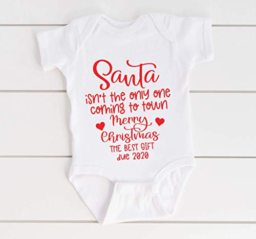 Christmas Pregnancy Reveal, Social Baby Announcement Bodysuit, Husband Pregnancy Reveal