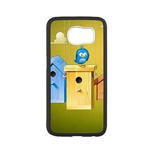 vector birdy Samsung Galaxy S6 Cell Phone Case Black yyfD-395312