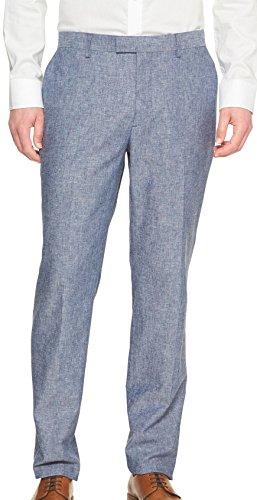 - Banana Republic Men's Standard Fit Linen Blend Trousers Pants Blue Glory (32/30)