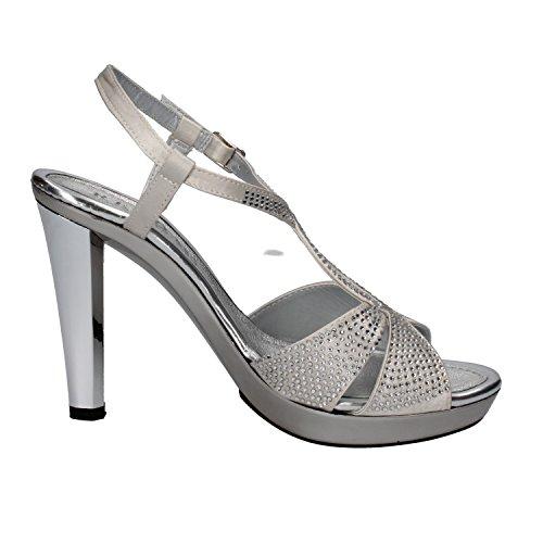 PHIL GATIER by REPO Mujer zapatos con correa plateado