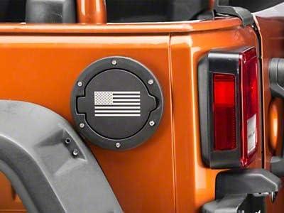 for Jeep Wrangler JK 2007-2018 Redrock 4x4 Old Glory Fuel Door Cover Textured Black