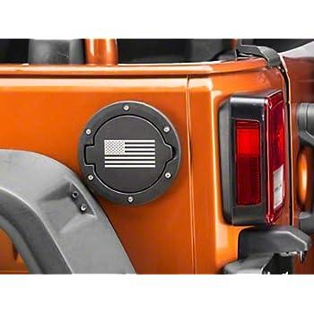 Stainless for Jeep Wrangler JK 2007-2018 RedRock 4x4 Non-Locking Fuel Door