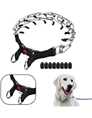 Prong Collar for Dogs – Pinch Collar for Dogs – 4mm24in (XL) – Dog Training Collar for All Dogs – Adjustable Stainless-Steel Links with Comfort Rubber Tips – Dog Choker Collar for Medium Large Dogs (Buckle)