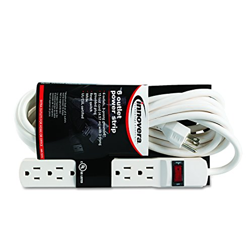 BESTTEN UL Listed 16-Outlet Heavy Duty Metal Power Strip, 12ft Long Extension Cord, 15A ON Off Circuit Breaker, Mounting Brackets Included, Black