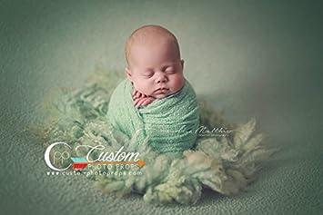 Amazon Com Spearmint Nubble Baby Boy Newborn Stretch Baby Wrap
