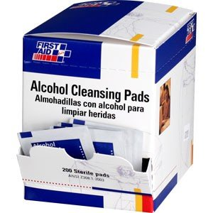Alcohol Cleansing Pads, 1-1/4x2-5/8, PK200