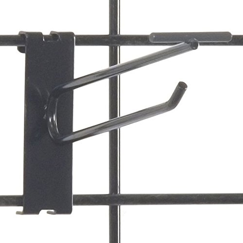 KC Store Fixtures A04756 Gridwall Scanner Hook, 6'', Black (Pack of 100) by KCF (Image #1)