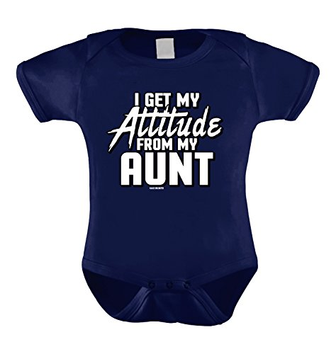 I Get My Attitude From My Aunt Infant Bodysuit (Navy Blue, 18 Months) (Happy Trouble Wedding)