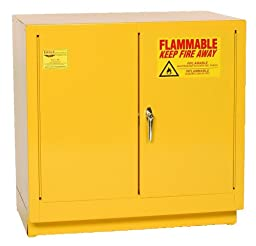 Eagle 1971 Safety Cabinet for Flammable Liquids, 2 Door Manual Close, 2 gallon, 35\