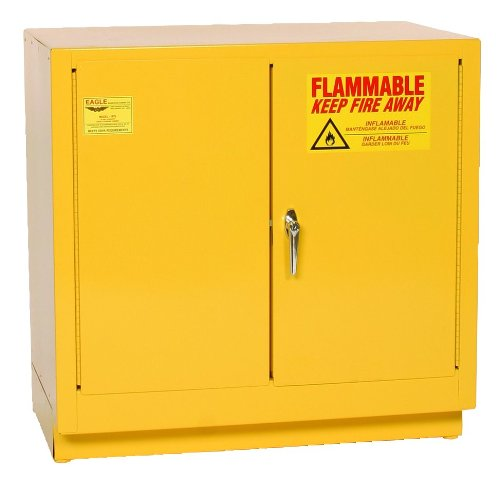 Eagle 1971 Safety Cabinet for Flammable Liquids, 2 Door Manual Close, 2 gallon, 35