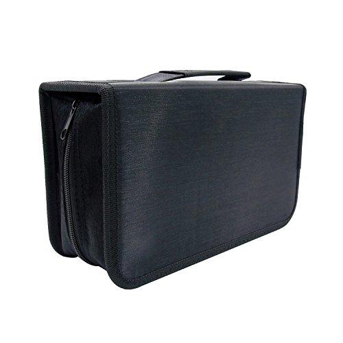 128 Black Capacity CD DVD Storage Cases Portable Wallet Bags Holder