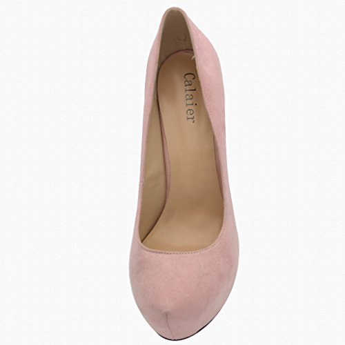 Calaier Womens Chaitle Pekte Tå 15cm Stiletto Slip-on Pumper Sko Rosa