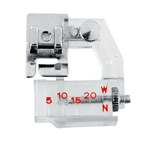 AKOAK Portable Adjustable Bias Binder Presser Foot Feet Kit for Sewing Machine Brother Singer Janome Juki Babylock Useful Home Supply