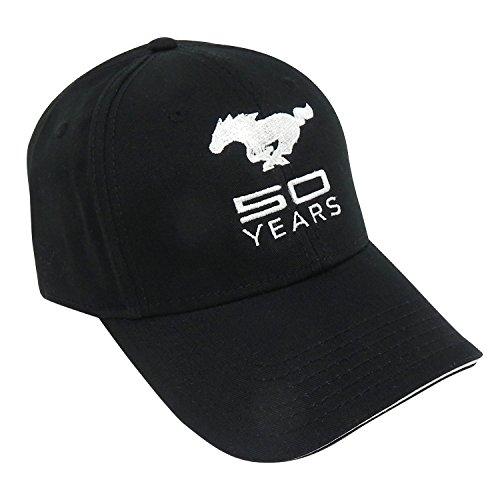 9d10f4a82ada7 Ford Mustang 50th Anniversary Black Baseball Cap - Import It All