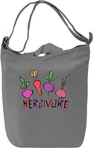 Herbivore Borsa Giornaliera Canvas Canvas Day Bag| 100% Premium Cotton Canvas| DTG Printing|