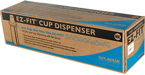 San Jamar C2410SM Surface Mount EZ-Fit Cup Dispenser, Fits 8oz to 46oz Cup Size, 2-7/8'' to 4-3/4'' Rim, 23-1/4'' Tube Length by San Jamar (Image #5)'