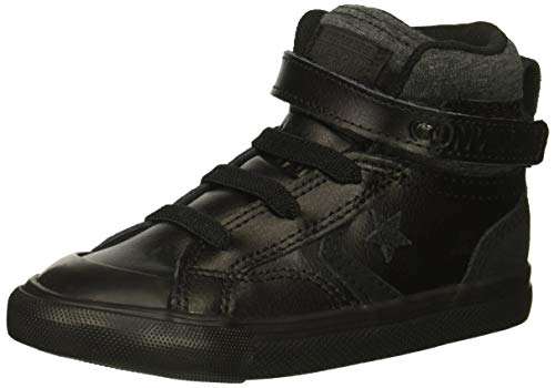 Converse Boys' Pro Blaze Strap Leather Suede High Top Sneaker Black, 13 M US Little Kid ()