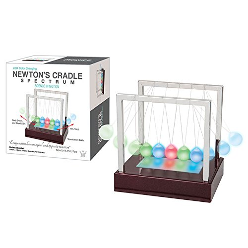 Westminster LED Color Changing Newton's Cradle Spectrum, Science In Motion by Westminster