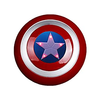 12.8 inch Captain America Shield with Flash Light and Voice for Kids Halloween Cosplay (No Battery Included)