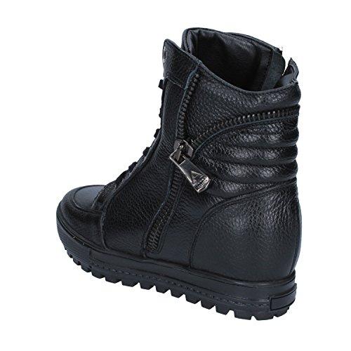 Sneakers Nero Pelle Donna Zeppa ALBANO Interna qaw8Aqd