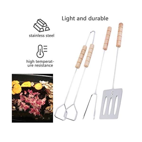 Rouku Set di Attrezzi per Barbecue da 3 Pezzi Facile da Pulire e igienico Set di forchette per spatole con Manico Lungo… 3 spesavip