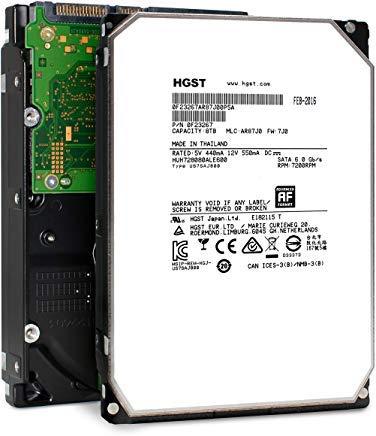 HGST Ultrastar HUH728080ALE600 (0F25739) He8, Helium Platform, Enterprise 8TB 7200 RPM 128MB Cache SATA 6.0Gb/s 7 pin Serial ATA 3.5