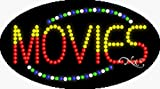 15x27x1 inches Movies Animated Flashing LED Window Sign
