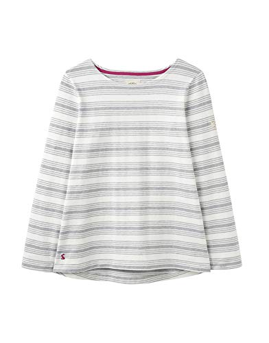 - Joules Women's Harbour Print Long Sleeve Jersey Top (UK16 EU44 US12, Grey Marl Stripe)