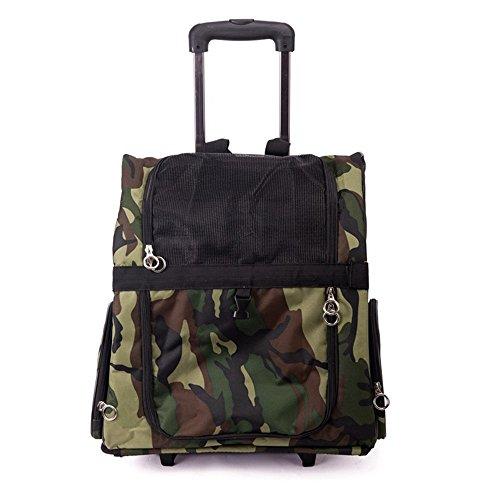 (Forgiven Pet Carrier Shoulder Bag Dog Cat Teddy Outing Carrying Case Pet Bag Chest Bag Trolley Bag Shoulder Pack (Pattern : Camouflage, Size : L))
