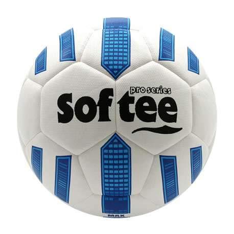 Balon Futbol HIBRIDO Softee MAX - Futbol 11 - Color Blanco Y Azul ...