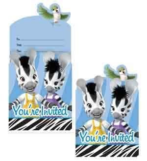 Zou the Zebra Invitation - Pop-Up [4 Retail Unit(s) Pack] - 895086