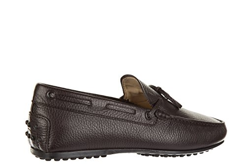 Tod's mocassins homme en cuir laccetto city gommino marron