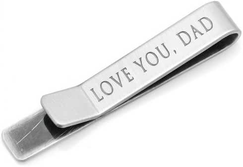 Ox & Bull Love You Dad Hidden Message Tie Bar