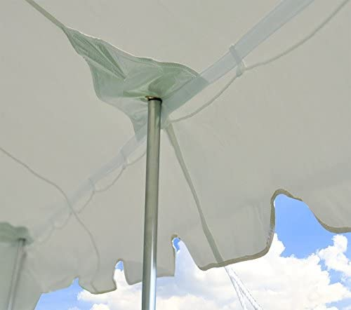 20 X 40 Deluxe White Canopy Pole Tent Package, Complete Set with Sidewalls and Storage Bag, Heavy Duty 14 oz Vinyl