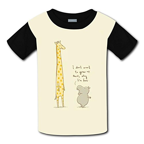 Yangjio T-Shirts Giraffe & Hippo Costume Xs Short Sleeve For Kids ()